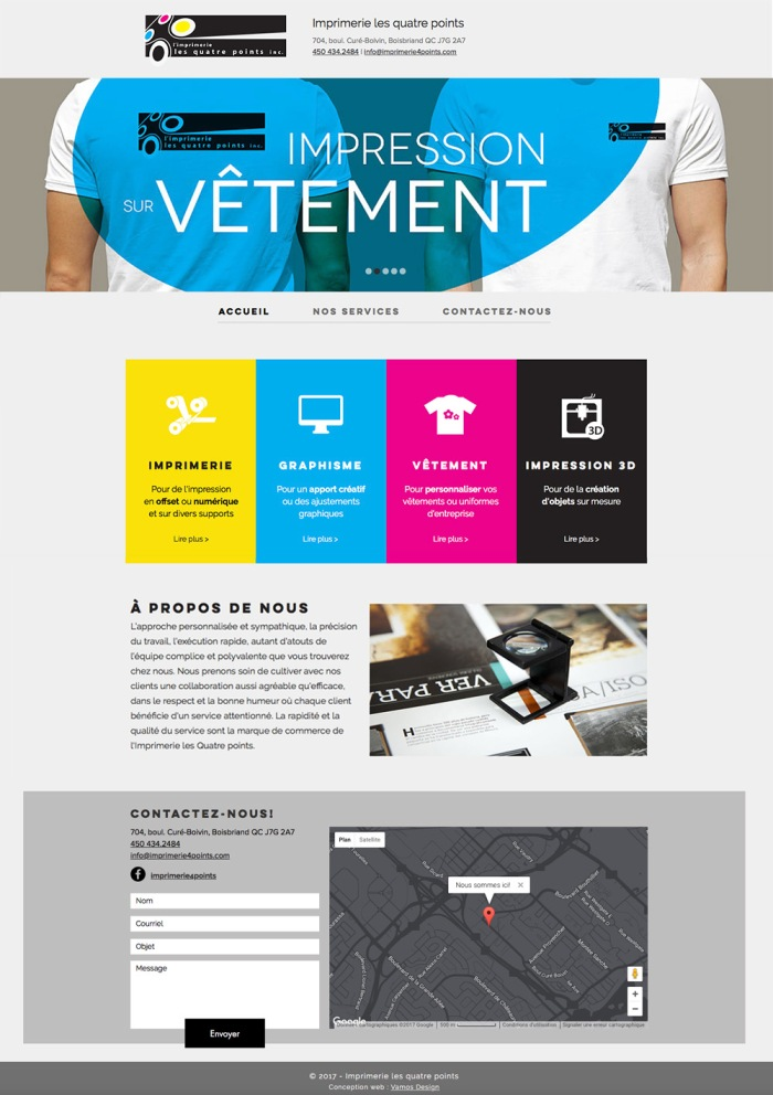 Conception de site web sur Wix