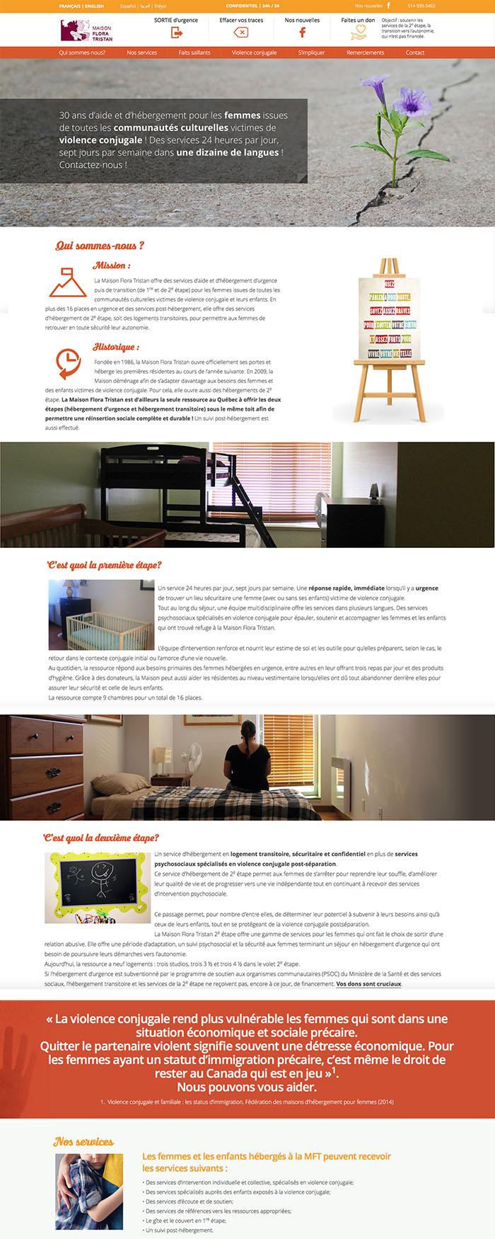 Maison d'aide et d'hébergement pour femmes victimes de violence conjugale.