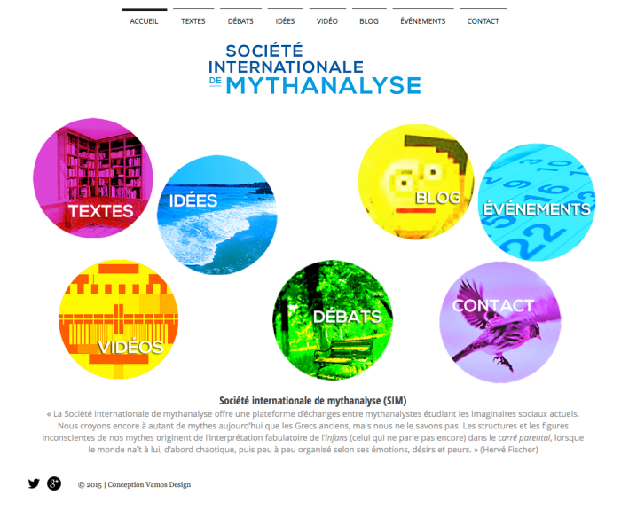 Site web Société internationale de Mythanalyse